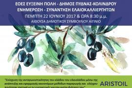 Κάλεσμα Ενημέρωση ελαιοκαλλιεργητών Δήμου Πύδνας Κολινδρού για συμμετοχή στο Ari