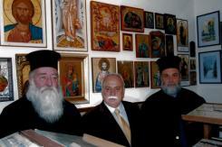 Με τους Ιερείς στο τμήμα του Μουσείου των Θρησκευτικών Εικόνων